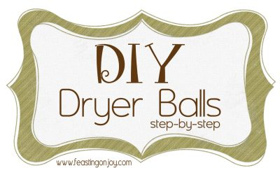 Step-By-Step DIY Homemade Dryer Ball Tutorial