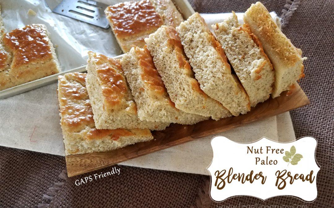 Nut Free Paleo Blender Bread {GAPS Friendly}