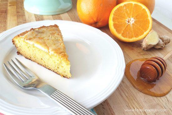 Decadent Grain Free Orange Ginger Honey Cake 3
