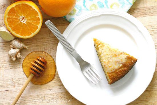 Decadent Grain Free Orange Ginger Honey Cake 4
