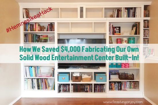 How We Saved 4K Fabricating Our Own Solid Wood Entertainment Center  Built In With An