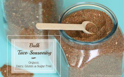 Organic Gluten, Dairy & Sugar Free Bulk Taco Seasoning for the Busy Mom