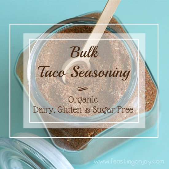 Organic Gluten, Dairy, Sugar Free Bulk Taco Seasoning 7 | Feasting On Joy