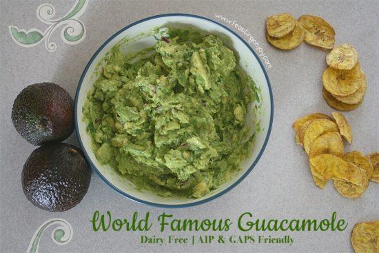 World Famous Guacamole - Dairy Free, AIP & GAPS Friendly   Feasting On Joy