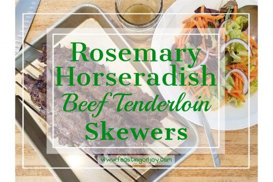 Rosemary Horseradish Beef Tenderloin Skewers 1 | Feasting On Joy