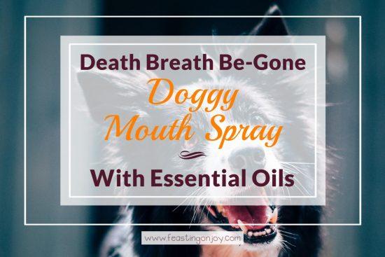Death Breath Be-Gone Doggy Mouth Spray with Essential Oils 1 | Feasting On Joy