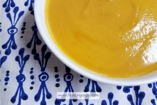 Instant Pot | Pressure Cooker Curried Butternut Squash Soup 2 | Feasting On Joy