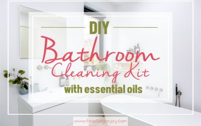 DIY Bathroom Cleaning Kit with Essential Oils