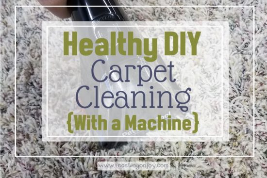 Healthy DIY Carpet Cleaning { With a Machine} 1   Feasting On Joy