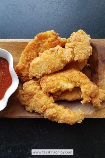 Crunchy Chicken Fingers 4 | Grain, Gluten, Nut Free | Feasting On Joy