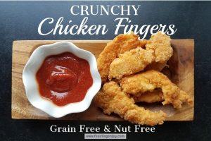 Crunchy Chicken Fingers | Grain, Gluten, Nut Free | Feasting On Joy